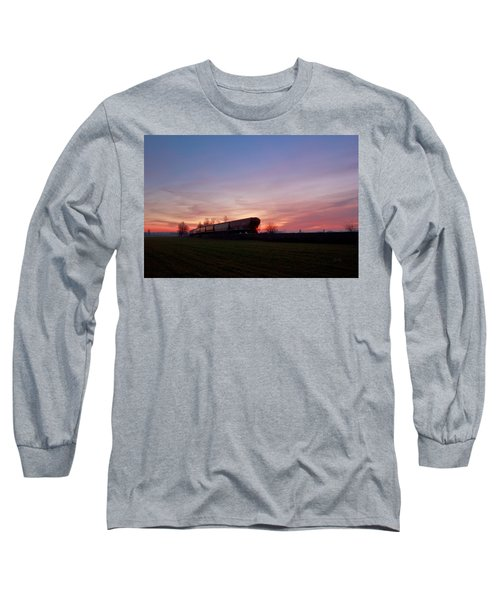 Long Sleeve T-Shirt featuring the photograph Abandoned Train  by Eti Reid