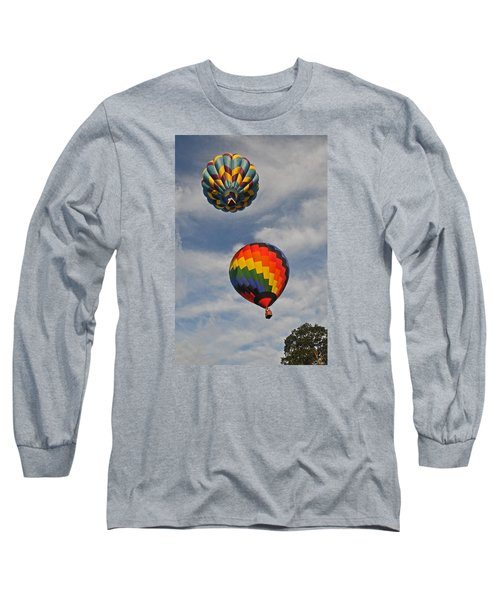 Long Sleeve T-Shirt featuring the photograph Above The Treetop by Mike Martin