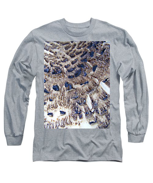 Long Sleeve T-Shirt featuring the photograph Abstract Accidental Sapphires by Linsey Williams