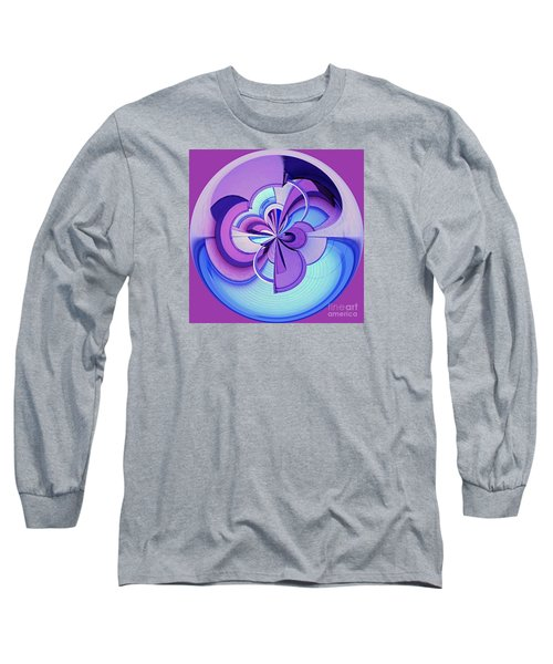Abstract Circle Squared Long Sleeve T-Shirt by Chris Anderson