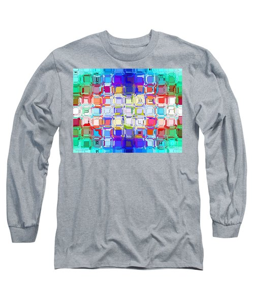 Long Sleeve T-Shirt featuring the digital art Abstract Color Blocks by Anita Lewis