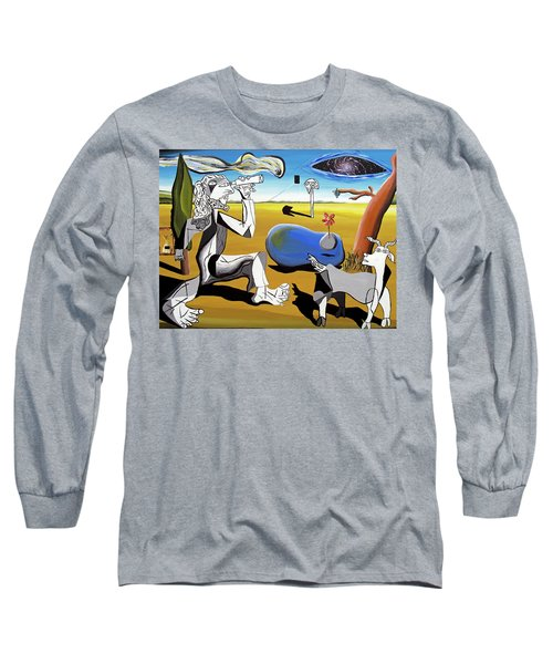 Long Sleeve T-Shirt featuring the painting Abstract Surrealism by Ryan Demaree