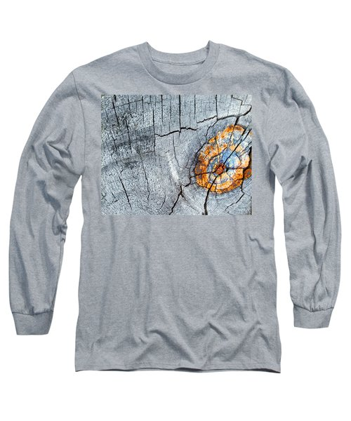 Abstract Woodgrain Upclose 6 Long Sleeve T-Shirt