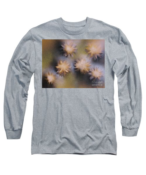 Abstract Yellow Flowers Long Sleeve T-Shirt