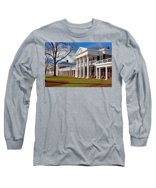 Academical Village At The University Of Virginia Long Sleeve T-Shirt by Melinda Fawver