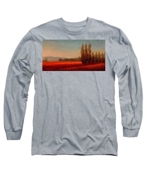Across The Tulip Field - Horizontal Landscape Long Sleeve T-Shirt
