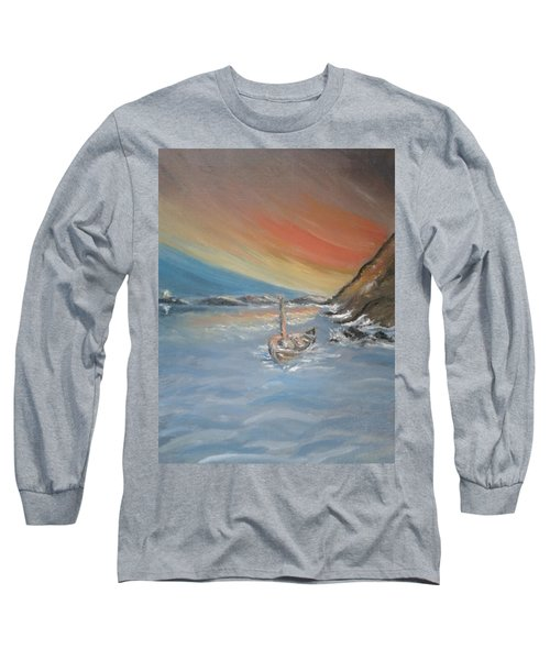 Long Sleeve T-Shirt featuring the painting Adrift by Teresa White