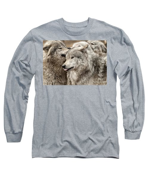 Adult Timber Wolf Long Sleeve T-Shirt