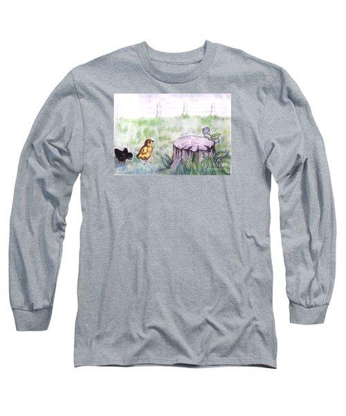 Adventurous Chicks Long Sleeve T-Shirt by Francine Heykoop