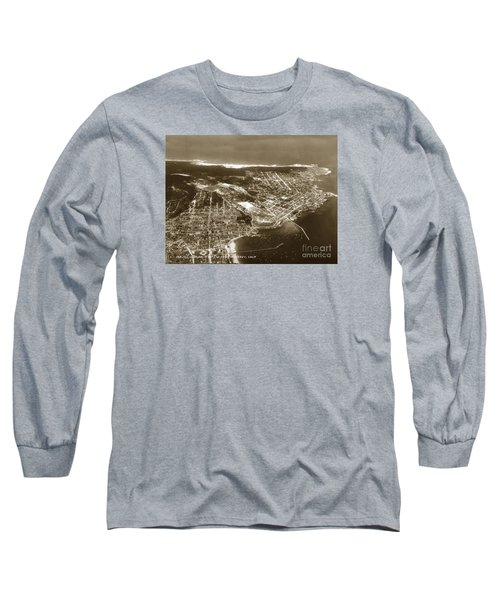 Aerial  Of Monterey Calif. Oct. 25 1934 Long Sleeve T-Shirt