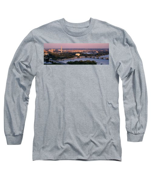 Aerial, Washington Dc, District Of Long Sleeve T-Shirt