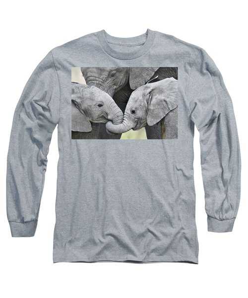 African Elephant Calves Loxodonta Long Sleeve T-Shirt