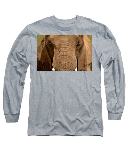 African Elephant Long Sleeve T-Shirt