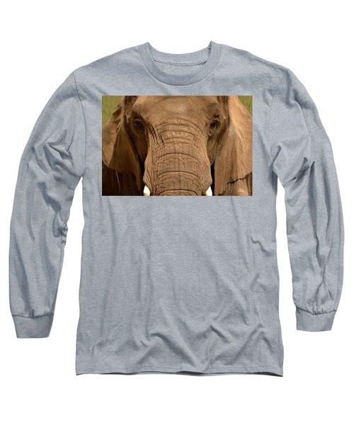 African Elephant Long Sleeve T-Shirt
