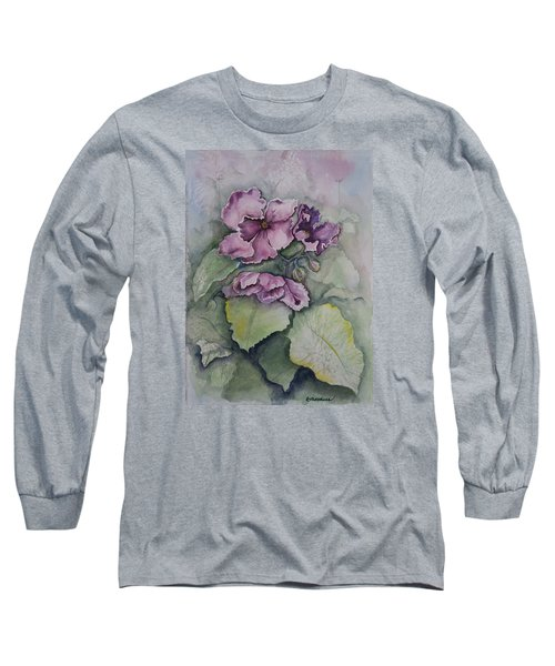 African Violets Long Sleeve T-Shirt by Rebecca Matthews