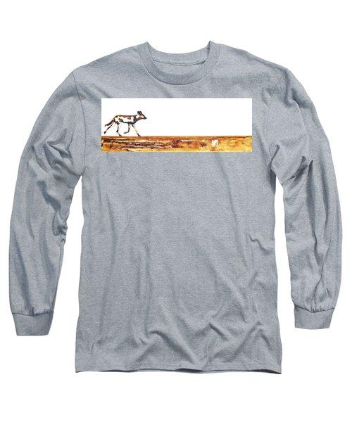 Endangered African Wild Dog - Original Artwork Long Sleeve T-Shirt