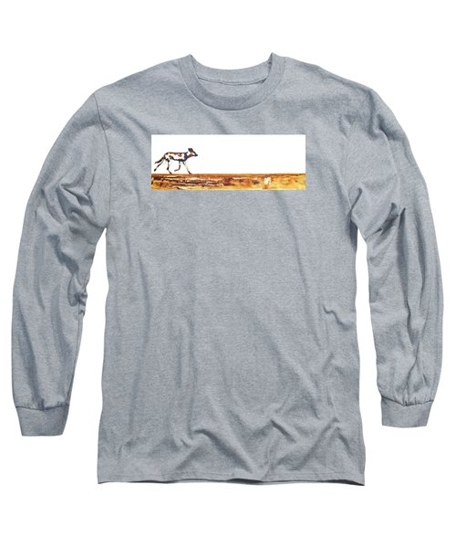 Endangered African Wild Dog - Original Artwork Long Sleeve T-Shirt