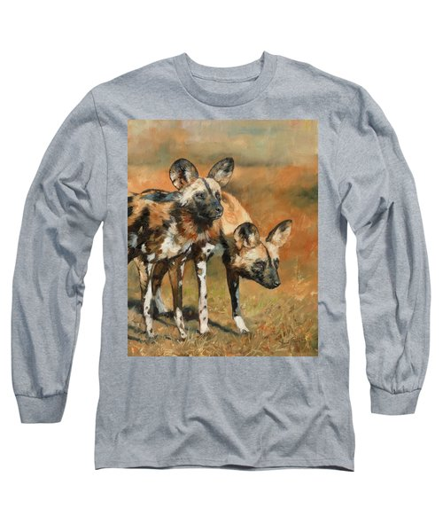 African Wild Dogs Long Sleeve T-Shirt