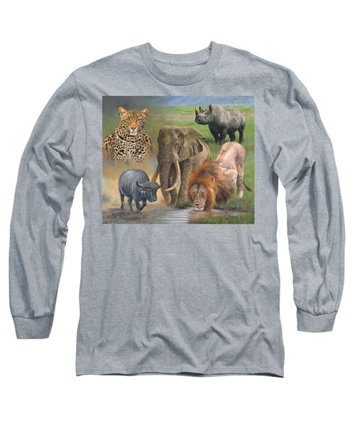 Africa's Big Five Long Sleeve T-Shirt by David Stribbling