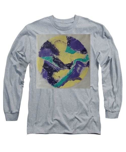 Long Sleeve T-Shirt featuring the painting Albers Effort by Erika Chamberlin