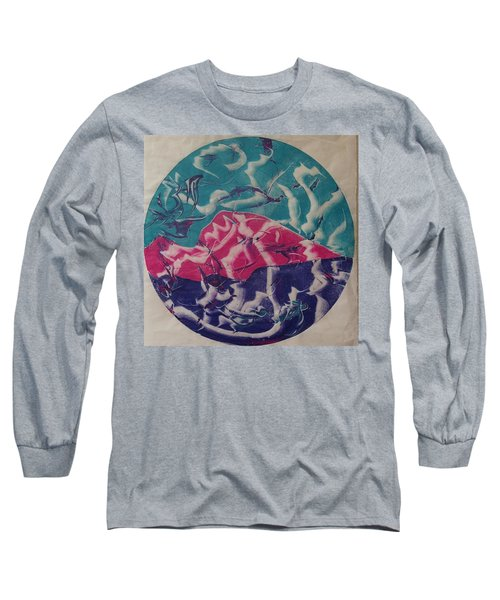 Long Sleeve T-Shirt featuring the painting Albers by Erika Chamberlin