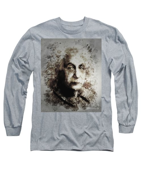 Albert Einstein Long Sleeve T-Shirt by Shanina Conway