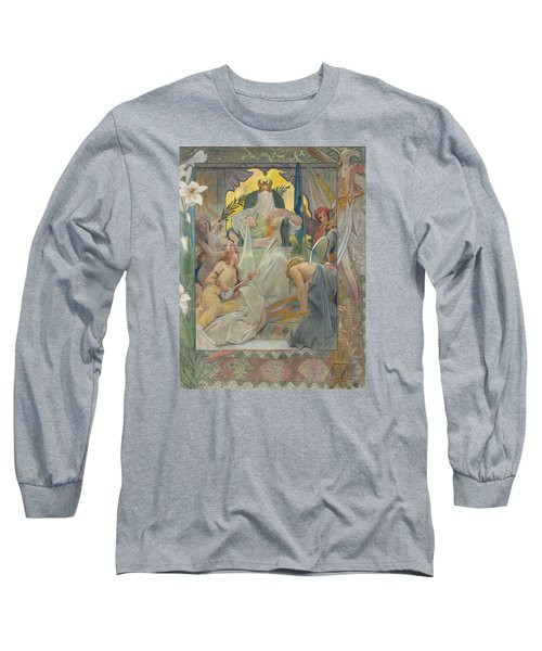 Arabian Nights By Andre Castaigne Long Sleeve T-Shirt by Antique Art
