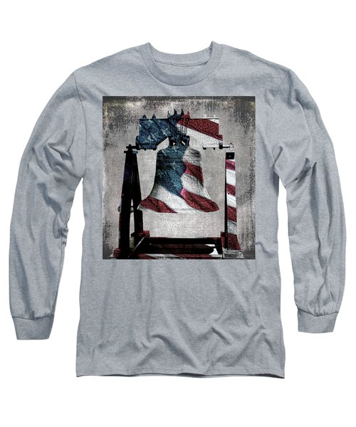All American Liberty Bell Art_denim Long Sleeve T-Shirt