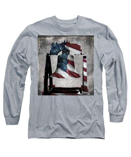 All American Liberty Bell Art_denim Long Sleeve T-Shirt