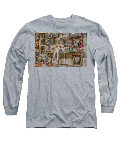 All By My Shelf Long Sleeve T-Shirt by Ray Congrove