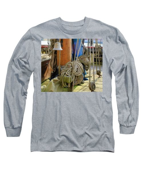 Long Sleeve T-Shirt featuring the digital art All Tied Up by Ron Harpham