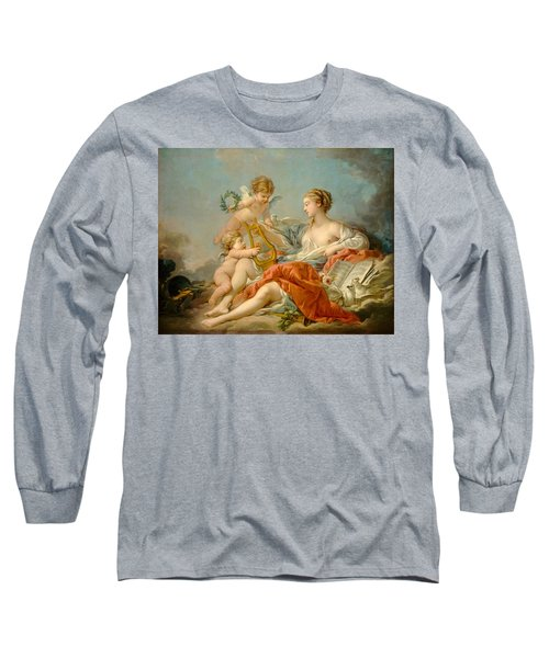 Allegory Of Music Long Sleeve T-Shirt by Francois Boucher