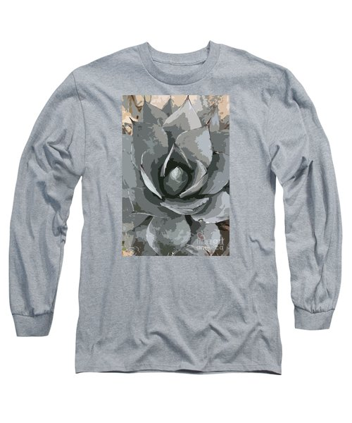 Aloe Vera Abstract Long Sleeve T-Shirt by Christiane Schulze Art And Photography