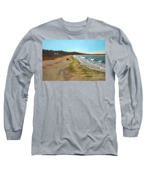 Along The Shore In Hyde Hole Beach Rhode Island Long Sleeve T-Shirt
