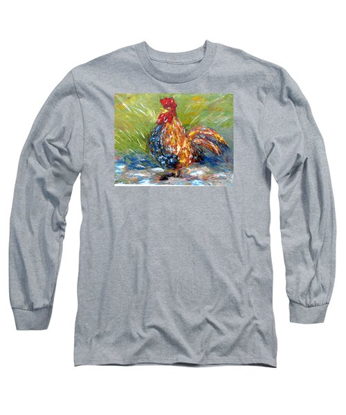 Amazed Rooster Long Sleeve T-Shirt