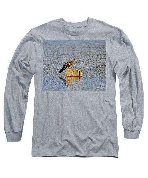 American Anhinga Angler Long Sleeve T-Shirt