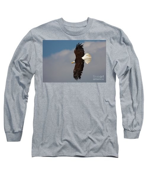 American Bald Eagle In Flight Long Sleeve T-Shirt