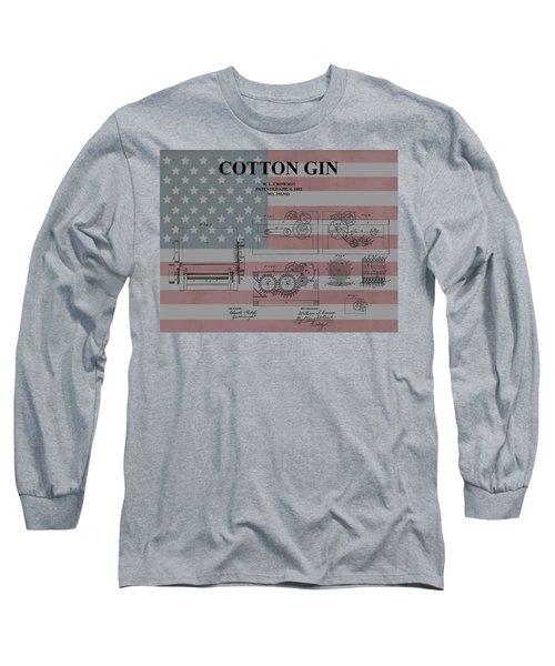 American Cotton Gin Patent Long Sleeve T-Shirt