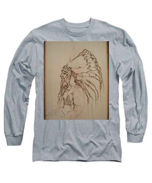 American Horse - Oglala Sioux Chief - 1880 Long Sleeve T-Shirt by Sean Connolly