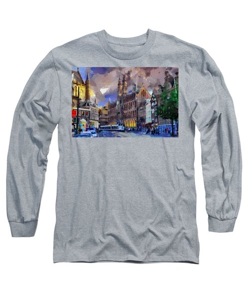 Amsterdam Daily Life Long Sleeve T-Shirt by Georgi Dimitrov