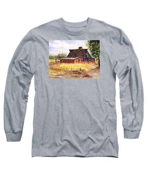 An Old Red Barn Long Sleeve T-Shirt