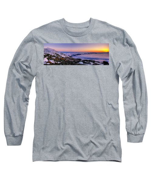 An Undercast Sunset Panorama Long Sleeve T-Shirt