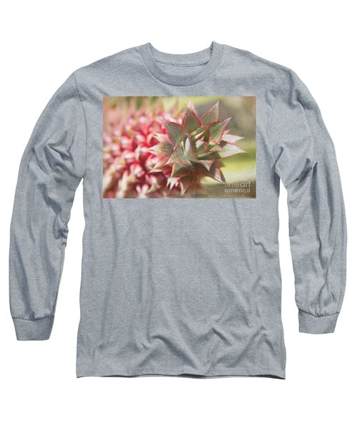 Ananas Comosus - Pink Ornamental Pineapple Long Sleeve T-Shirt