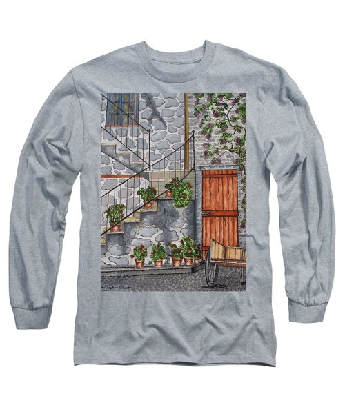 Ancient Grey Stone Residence Long Sleeve T-Shirt