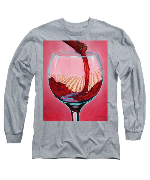 ...and Let There Be Wine Long Sleeve T-Shirt by Sandi Whetzel