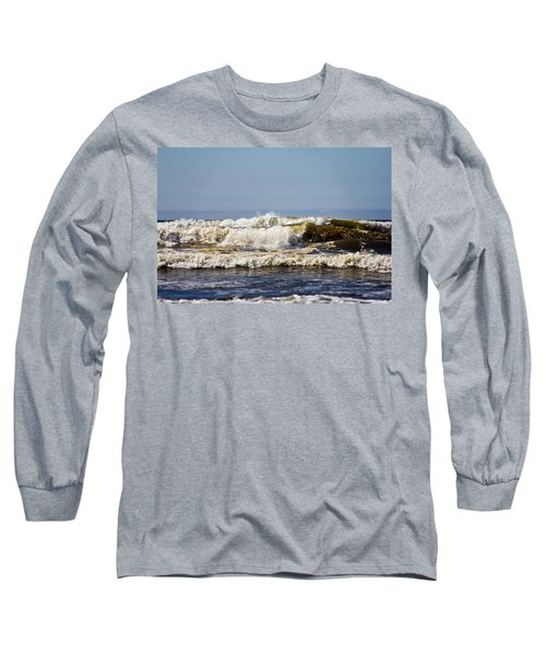 Water Long Sleeve T-Shirt featuring the photograph Angry Ocean by Aaron Berg
