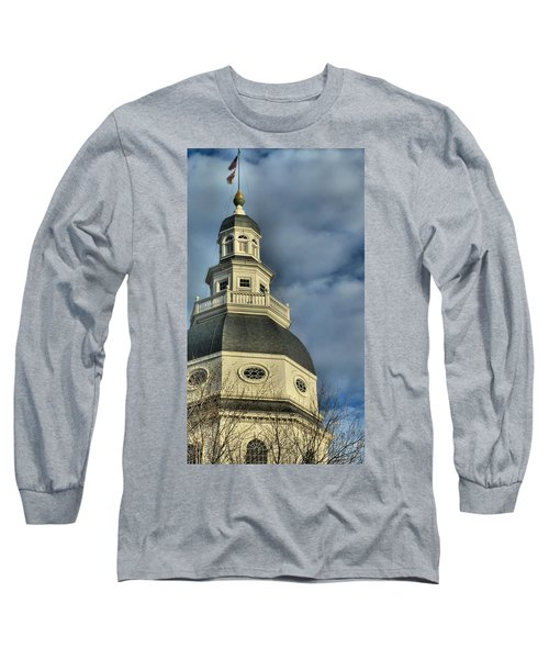 Annapolis Statehouse Long Sleeve T-Shirt by Jennifer Wheatley Wolf