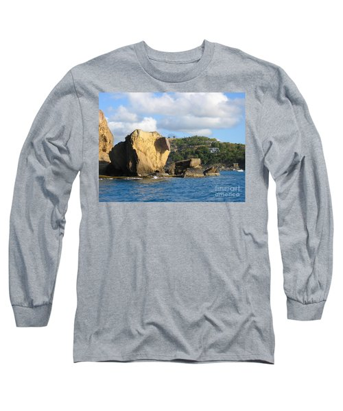 Long Sleeve T-Shirt featuring the photograph Antigua - Aliens by HEVi FineArt