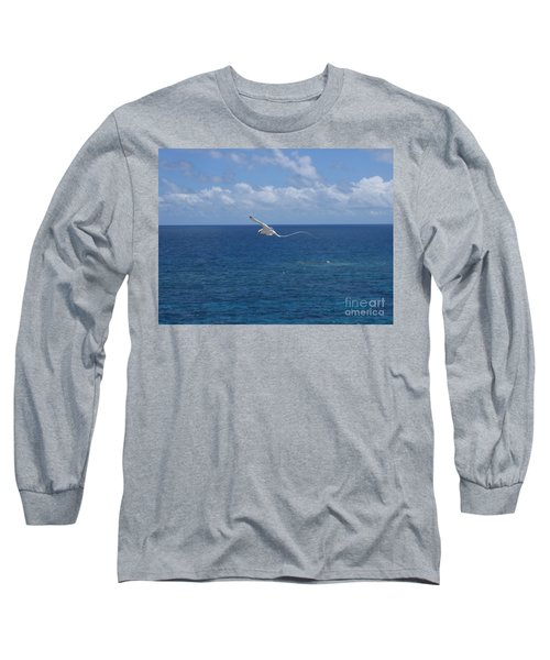 Long Sleeve T-Shirt featuring the photograph Antigua - In Flight by HEVi FineArt
