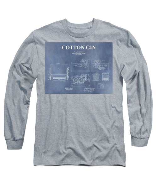 Antique Cotton Gin Patent Long Sleeve T-Shirt